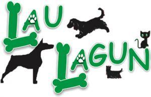 logotipo, perros, huesos verdes