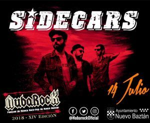 Sidecars, cabeza de cartel del Festival NubaRocK 2018