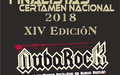 """Finalistas XIV Certamen de Música Rock-Pop de Nuevo Baztán """"NubaRocK 2018"""""""