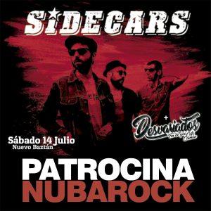 Patrocina el NubaRocK 2018, 14 de Julio SIDECARS en concierto en Nuevo Baztán