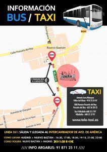 Información de Bus y Taxi NubaRocK