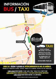 Información Bus y Taxi Festival NubaRocK
