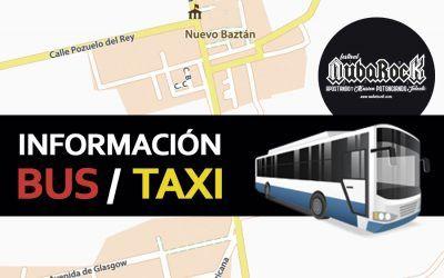 Información Bus y Taxi para el NubaRocK